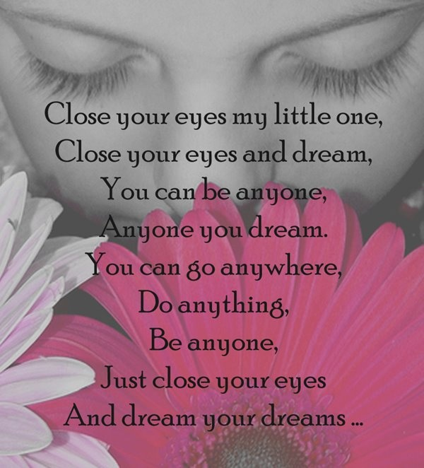 dreams..Little One, Dreams Big, Quotes, Inspiration Poems, Sweets Dreams, Children, Kids, A Frames, Bedrooms Wall