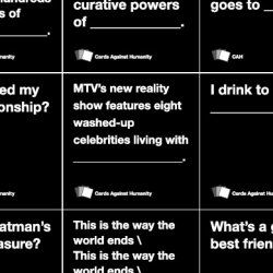 """This is fun. Just like in the game of Cards Against Humanity you get to choose which answer you think is the funniest, or saddest, or most inappropriate and quite often the choice voted most popular is all three. This game is billed as """"politically incorrect"""" for a reason."""