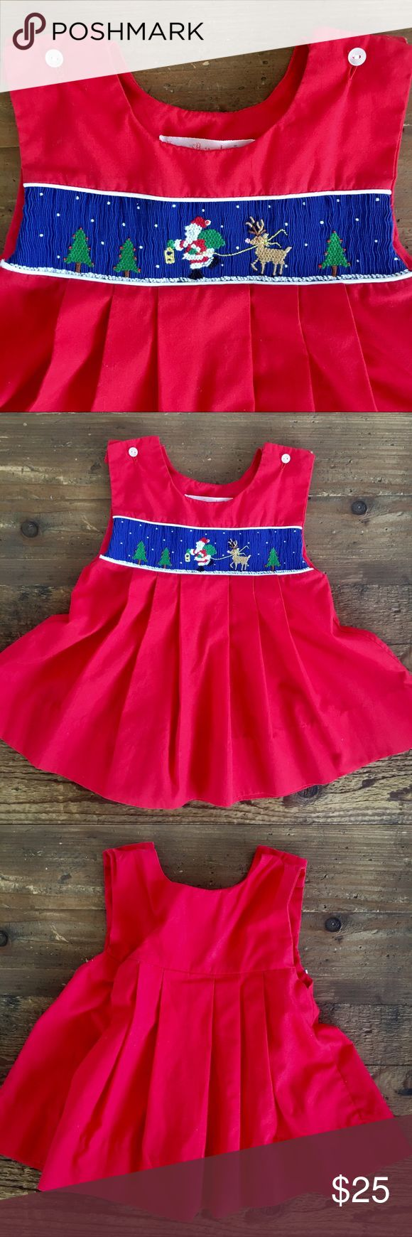 House of Hatten boutique smocked Santa dress House of Hatten intricately smocked and needle point dress in excellent condition! Solid Christmas red with an entire winter scene smocked across the chest. Soft pleated front. A most unique and special dress when only the best will do for your little one! Formal or causal dress. Size tag reads 18 months. However, listing as 12-18 as it runs a bit on the small side in my opinion House of Hatten Dresses Formal