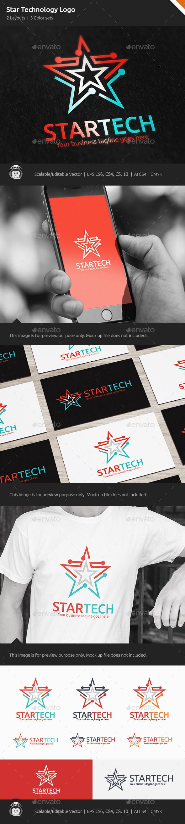 Star Technology Logo  #media #modern #movement • Available here → http://graphicriver.net/item/star-technology-logo/10364927?s_rank=889&ref=pxcr