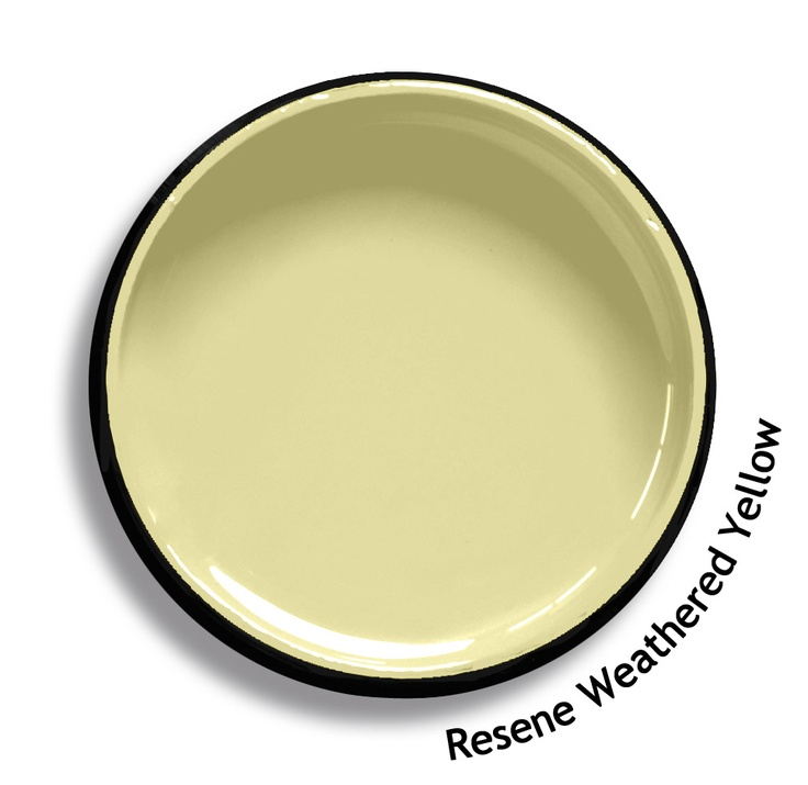 Resene Weathered Yellow is a lightened warm yellow with a hint of green undertone. From the Resene Karen Walker Paints colour range. Try a Resene testpot or view a physical sample at your Resene ColorShop or Reseller before making your final colour choice. www.resene.co.nz/karenwalker.htm