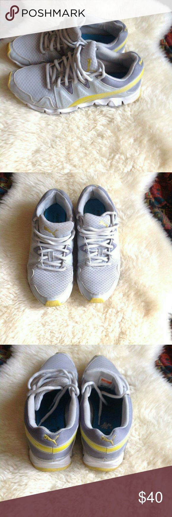 PUMA Running shoes Great addition for the sport girls...something I am not. So, I am selling these.   Gently used. Used less than a handful of times. Super light and comfortable. No damages or stains.  Offers welcome! Puma Shoes Sneakers
