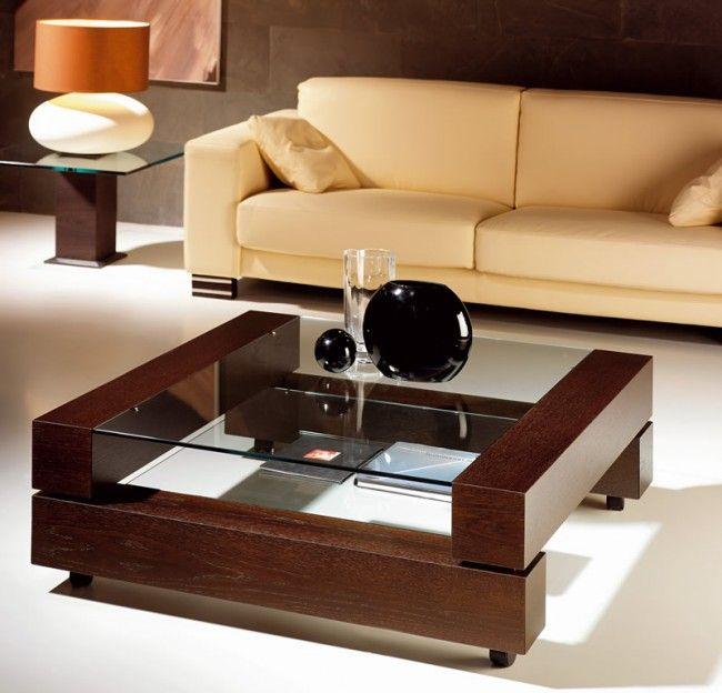 17 mejores ideas sobre mesas de centro en madera en - Centro de mesa para salon ...