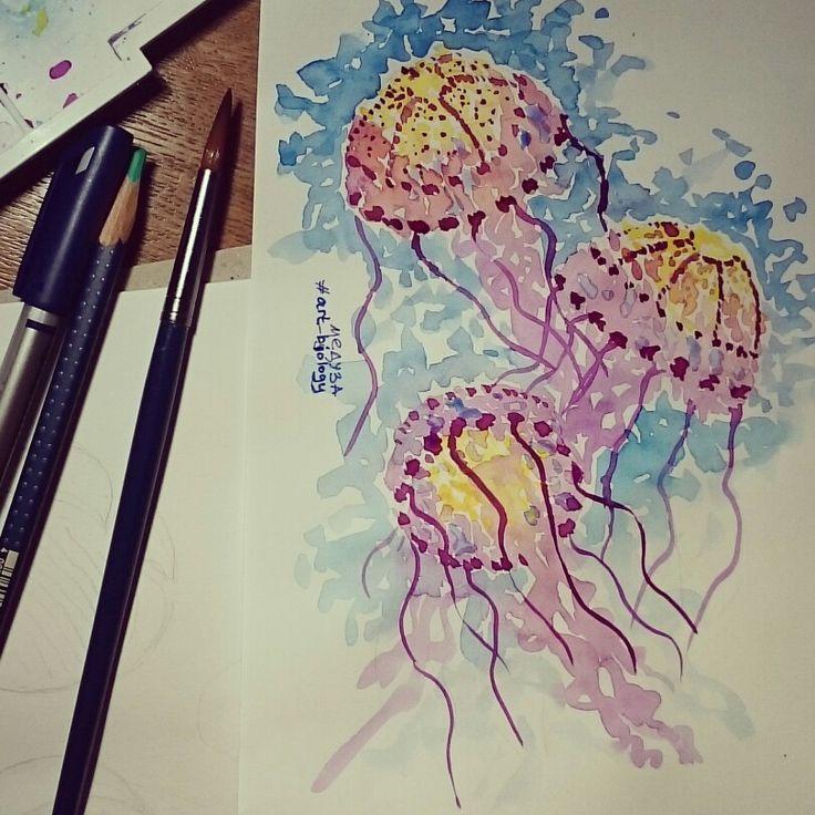 Медуза, art, design, illustration, grafics