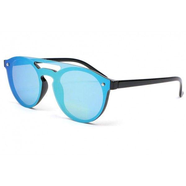 Pipel Eyeware - Lunettes de soleil - Homme Bleu Blue, Silver One Size Fits All