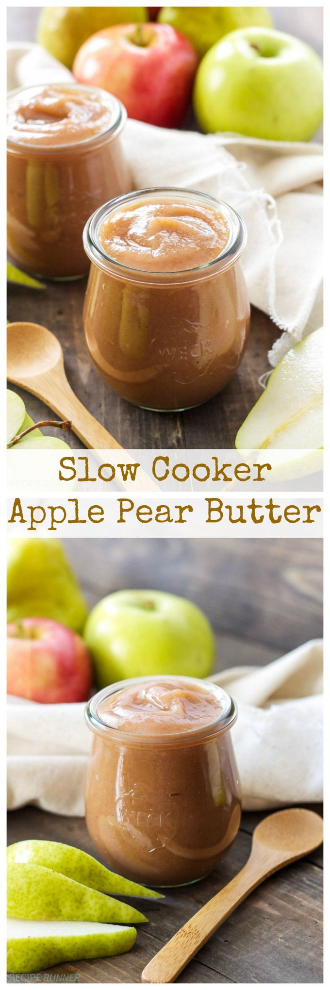 Slow Cooker Apple Pear Butter | This easy to make fall condiment is rich in flavor and perfect for both sweet and savory dishes!