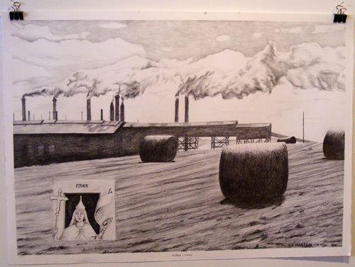Esther Hansen, Fides/ Faith, 2009, pencil drawing
