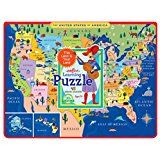 United States Map Puzzles.Eeboo United States Map Tray Puzzle For Kids 45 Pieces Shop Eeboo