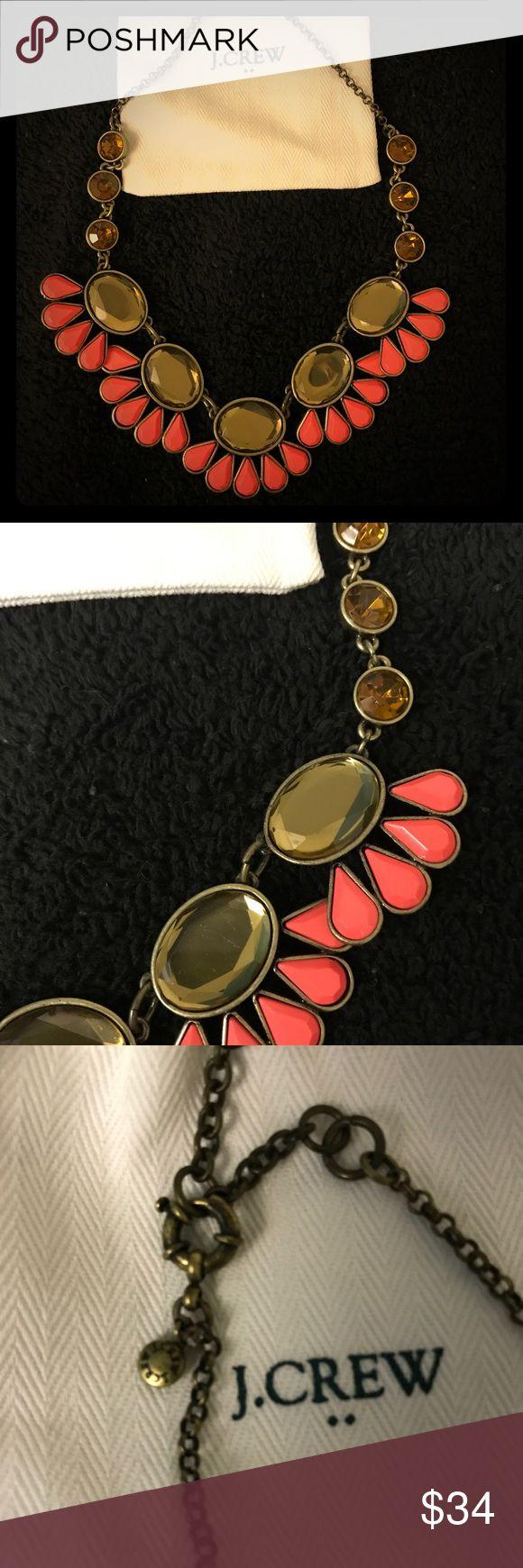 J. Crew coral statement necklace J. Crew coral petal statement necklace J. Crew Jewelry Necklaces