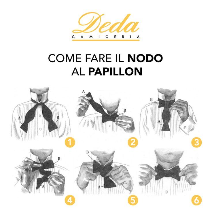 Ecco una comoda guida per un #papillon perfetto! #Deda #Camicie #uomo