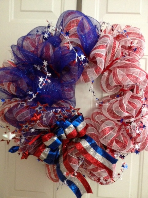Forth of July or Memorial Wreath