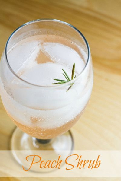 Peach Shrub Collins @poet in the pantry