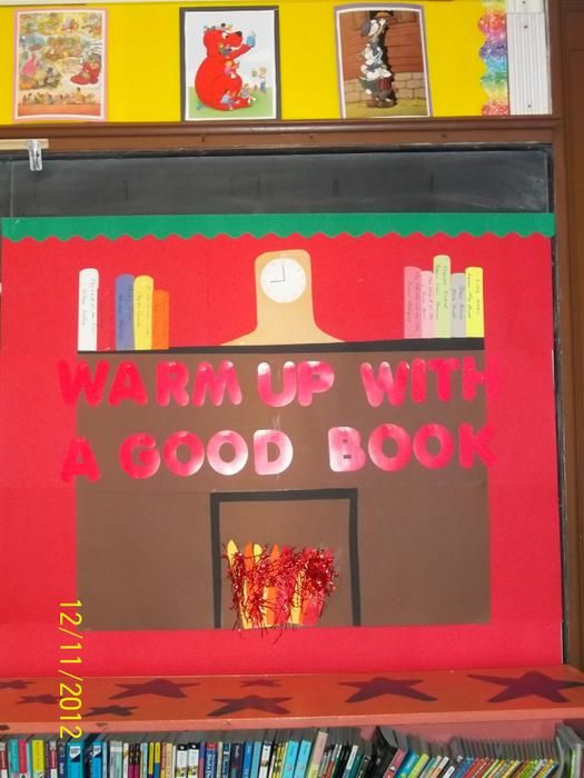 Warm Up With A Good Book! - Holiday Bulletin Board Idea