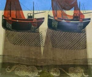 'Sussex Boats And Nets' by Robert Tavener
