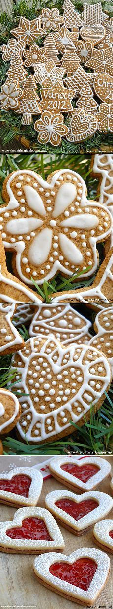 Traditional Christmas gingerbread cookies.