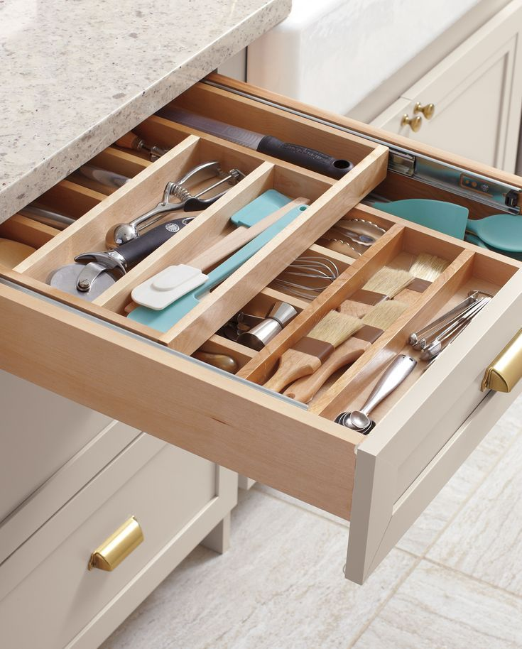 Tackle kitchen clutter with Martha Stewart's collection of trusted organization products! Explore this guide for custom kitchen designs with drawer and cabinet storage features, DIY craft projects, and more.
