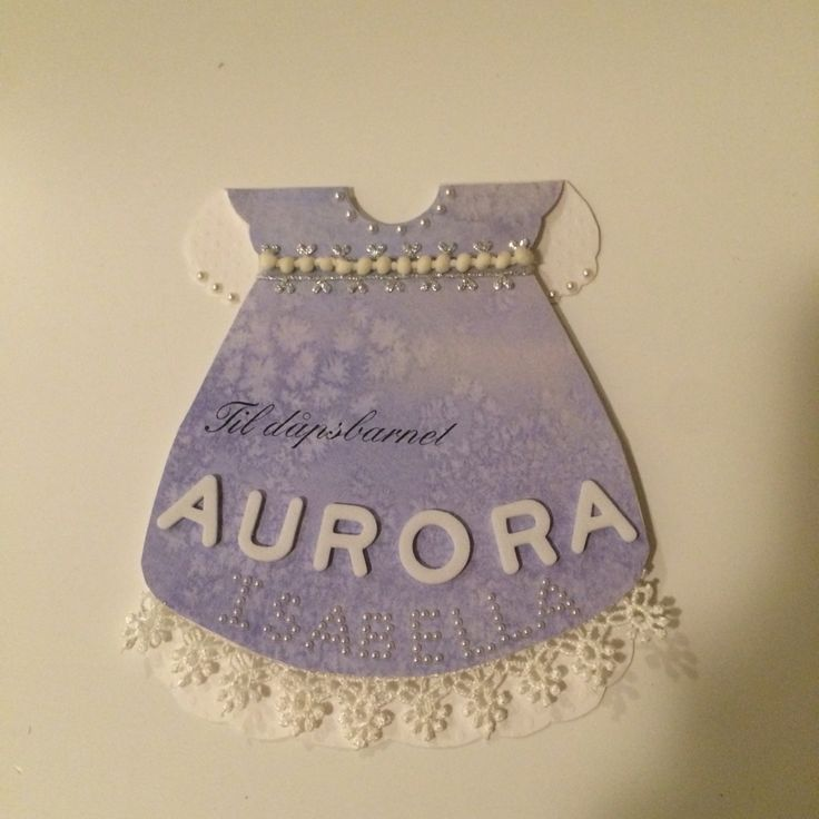 Baby dress card