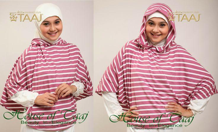 Jilbab Hoodie instan Modern, kerudung taaj
