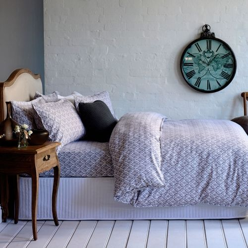 This vintage-look bed linen design from Mercer + Reid, featuring gorgeous quilt cover and sheet set, will add a touch of elegant style to your home. Made from pure cotton flannelette, this bedding range has been designed to provide superior warmth and softness.