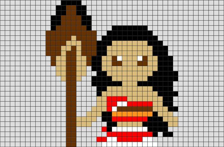 Moana Pixel Art From Brikbook Com Vaiana Moana Animated