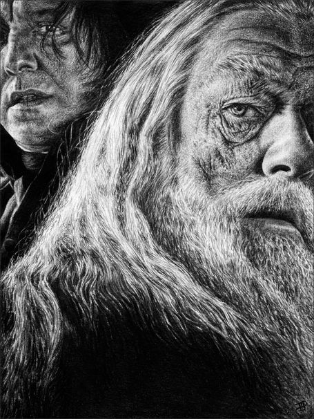 Albus Dumbledore and Snape by Diamond4girl.deviantart.com on @deviantART