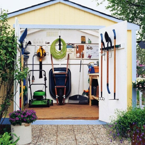 Organized garden tool shed...my ideal.