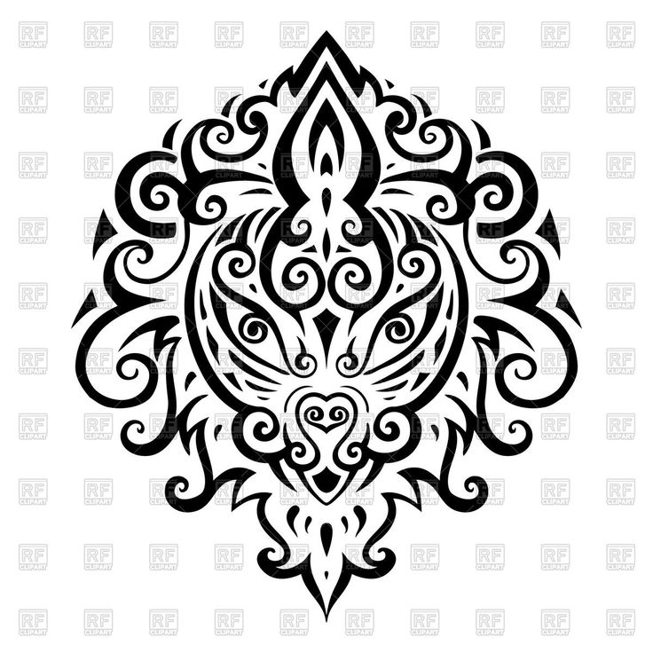 Decorative lion head - tribal pattern 51537 download royalty-free ...