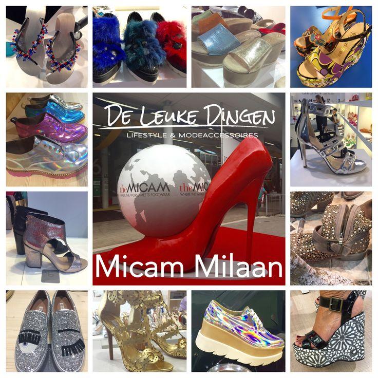 Micam DE schoenen trend Milaan...Veel hoge #sleehakken dames!#Kleur #lichtheid en #schitteren zijn de 3 kernwoorden voor de zomer 2016!  www.deleukedingen.nl #hoog #laag #sneaker #glitter #slipper #bont #laars #espadrilles #kleuren #zilver #goud #sleehak