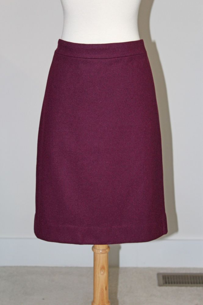 71c4d939ba New J CREW FACTORY Pinot Noir DOUBLE SERGE WOOL PENCIL SKIRT Sz 14 46575  #fashion #clothing #shoes #accessories #womensclothing #skirts (ebay link)