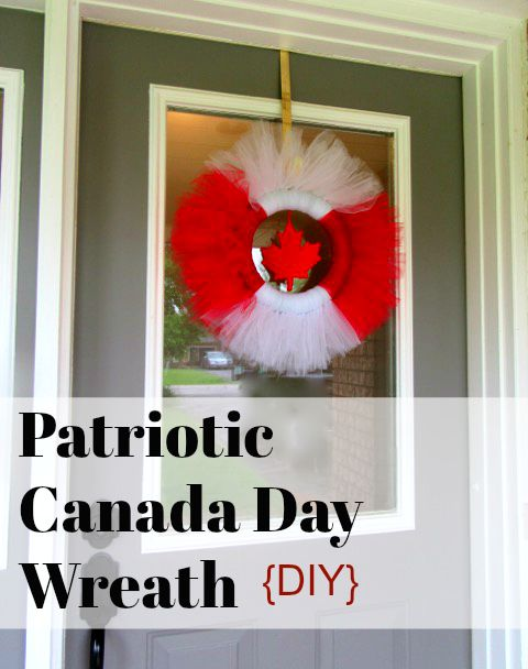 Canada Day Patriotic Wreath {DIY}