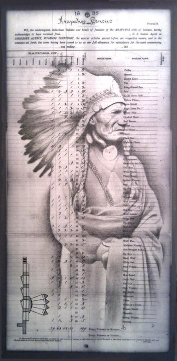 """""""Red Pipe"""" is one of Robert Martinez' series depicting notable Arapaho leaders!"""