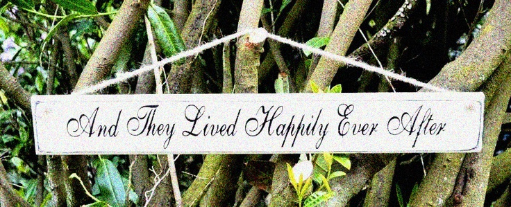 For Hire: 'And They Lived Happily Ever After' wooden wedding sign. £15. South of England. www.rosetintmywedding.co.uk