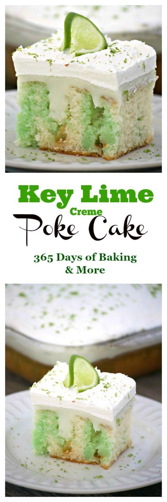 Key Lime Creme Poke Cake   Recipe