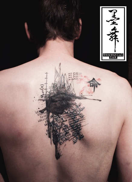 These tattoos look like ink wash torrential ink hong for Best soap to clean tattoo