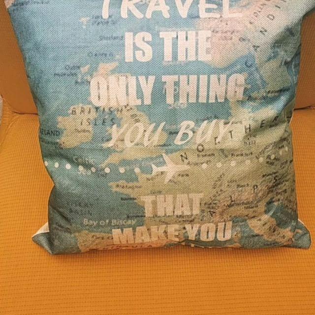 """'Travel is the only thing you buy that make you richer'  Solo $40000 📮 Envío gratis en Bogotá 🛒Realiza Tu pedido por inbox 🌎 Siguenos en @andiamoavolare ✈️Facebook Andiamo a Volare . . . .  #wanderlust #wanderers #globetrotter #travellife #trip #viajeros #travelgram #travelphotography #travels #traveling #mujeresviajeras #viaje #viajeras  #travelblogger #travelbug #traveldiary #bogota #colombia #cushions #viajando #travelistheonlythingyoubuythatmakesyouricher #notallwhowanderarelost…"