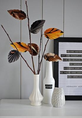 3d paper leaf display