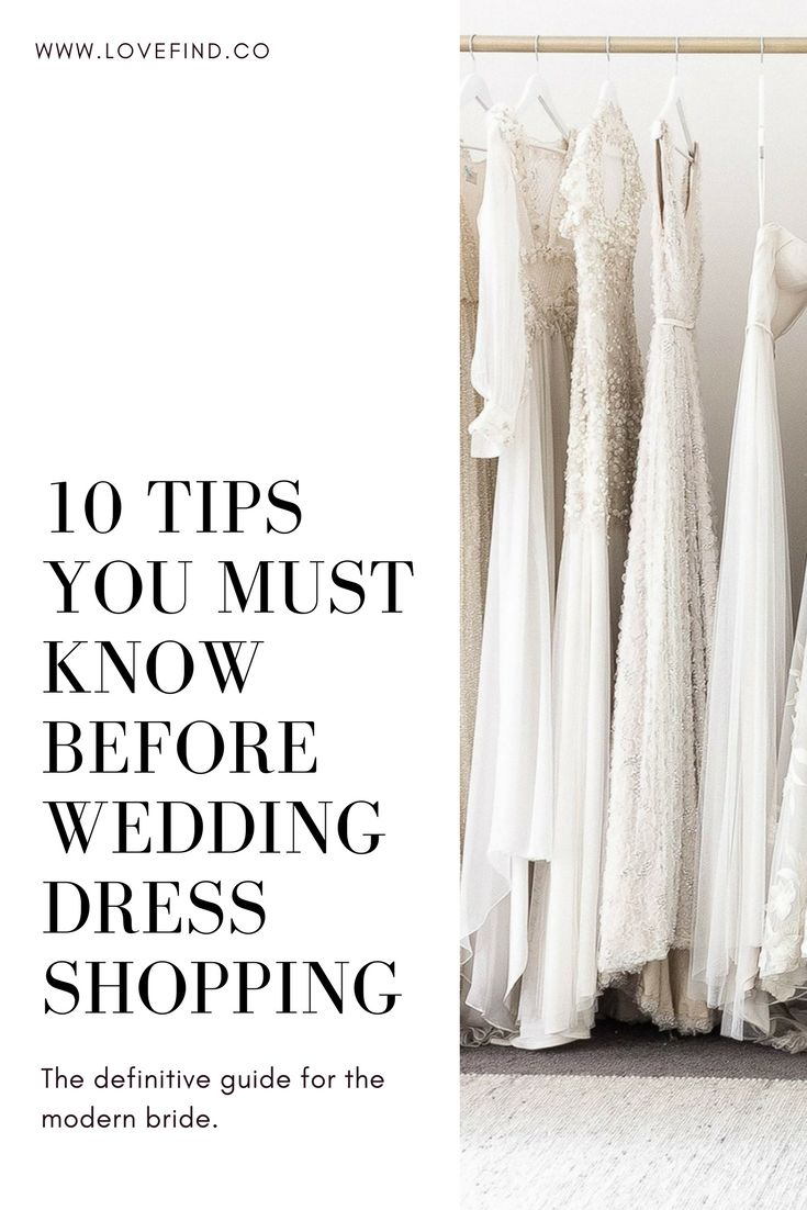 Our Definitive Guide to Wedding Dress Shopping with our Top Ten Tips! | Read our guide on LOVE FIND CO.
