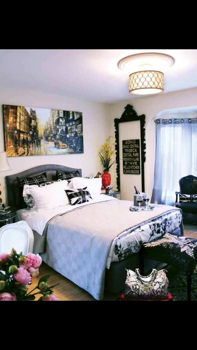 83 best paris and new york bedroom themes images on for City themed bedroom ideas