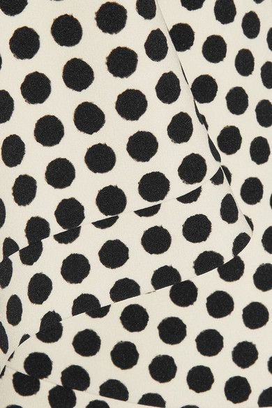 Saloni - Portia Polka-dot Stretch-crepe Skirt - Ivory - UK