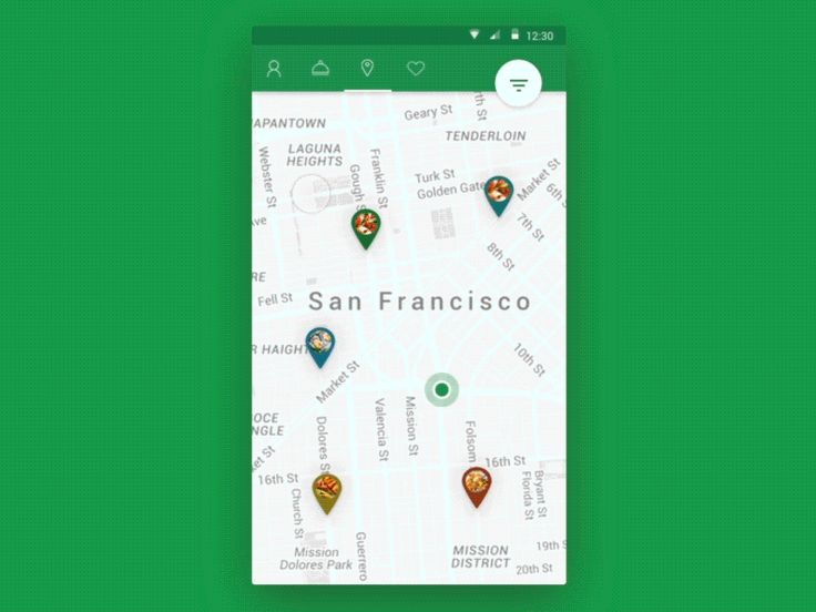 Map Interaction - Android Food App by Christophe Kerebel
