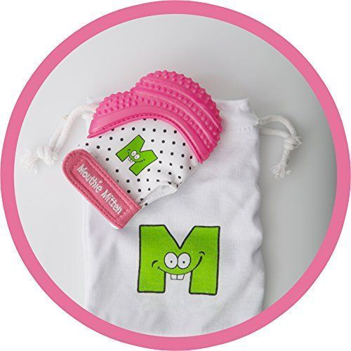 From 16.99:Mouthie Mitt Baby Teething Glove Pink Unisex - Usa Award Winning Baby Mitten -soothing Pain Relief- Age 3-12 Months Protects Babys Hands From Salvia & Chewing - Secure Adjustable Strap. Great For Travel Washable Glove & Travel Bag Included. Fre