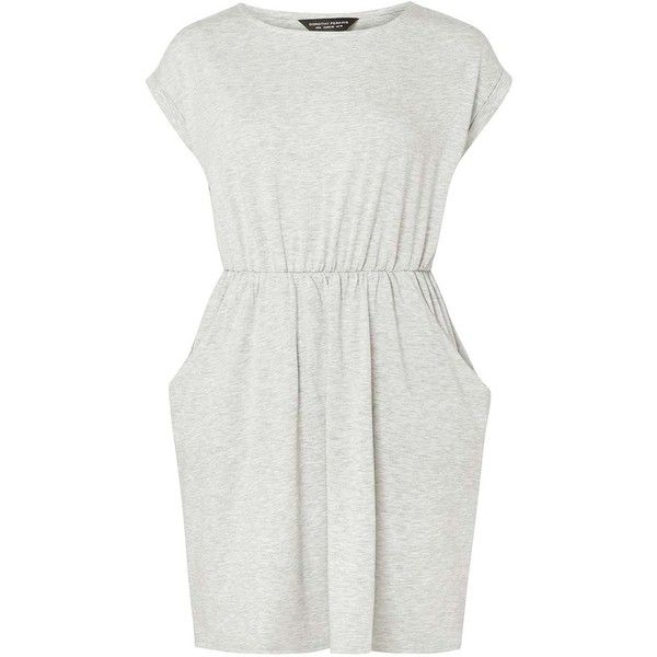 Dorothy Perkins Grey Marl T-Shirt Dress (2,260 INR) ❤ liked on Polyvore featuring dresses, grey, marled dress, dorothy perkins, grey t shirt dress, grey t-shirt dresses and dorothy perkins dress