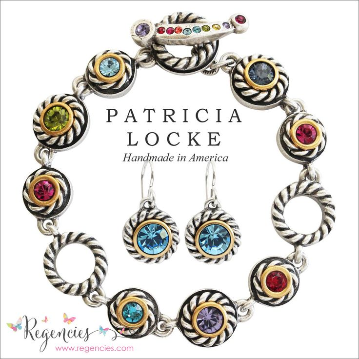Get holiday ready with this colorful, festive Patricia Locke bracelet & earrings set.
