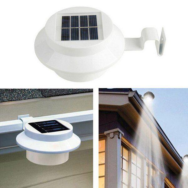 $5.86 Solar Outdoor Garden LED Courtyard Fence Light
