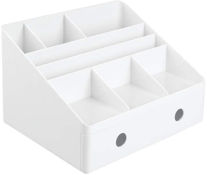 Rebrilliant Bouldin Desk Organizer With Drawers Desk Organization Wooden Desk Organizer Office Supply Storage
