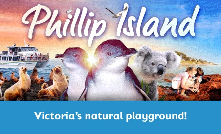 Phillip Island Victoria Australia. Official Tourism Website authorised by Phillip Island Visitor Information Centre listing Accommodation, Attractions, Activities, Apartments, Bed and Breakfast, Hotels, Caravan Parks, Holiday Houses, Beach Houses, Food, Wine and Produce, Events, What to Do on and around Phillip Island including Cowes, Rhyll, San Remo. Newhaven Supported by the Phillip Island Tourism and Business Association and Tourism Victoria. Ph 1300 366 422