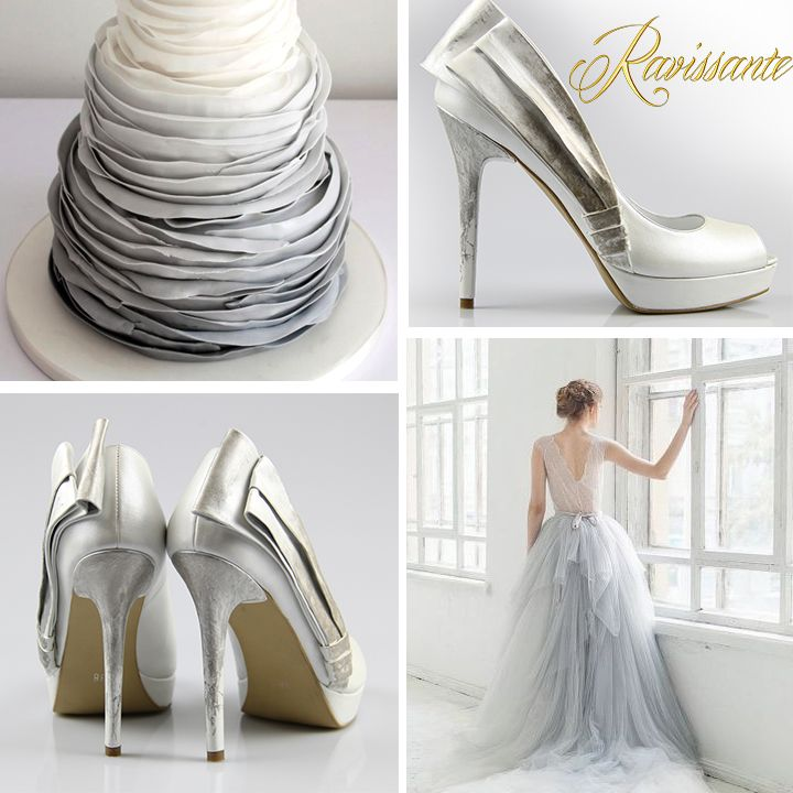 Touches of grey and silver might dress-up a beautiful wedding !