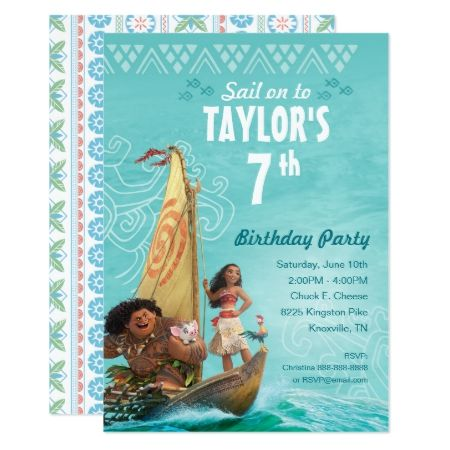 Moana | Oceania Birthday  Card - click to get yours right now!