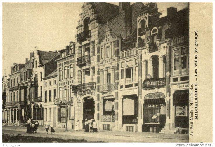 1923  MIDDELKERKE LES VILLAS 5 GROUPE AU PETIT MOULIN