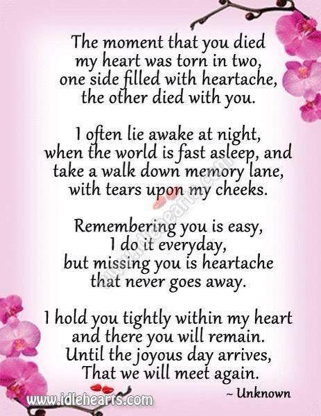 Poem of loss